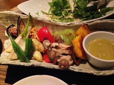 旬の焼き野菜