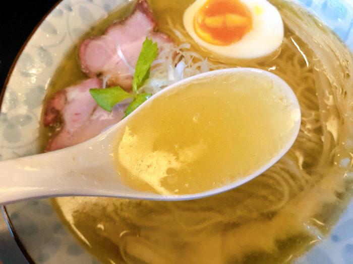 限定:香味塩煮干そば  スープ