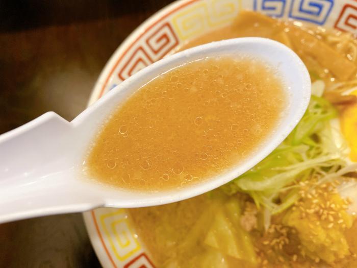麺と餃子 いせのじょう 桑園高架下 特製みそラーメン スープ
