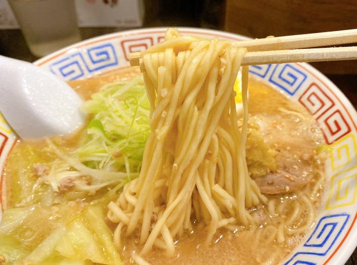 麺と餃子 いせのじょう 桑園高架下 特製みそラーメン 麺