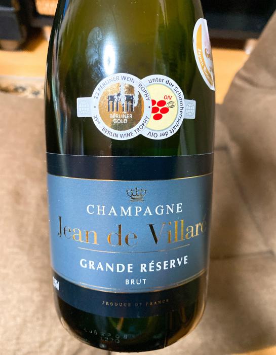 シャンパンのジャン・ド・ヴィラレ・ブリュット