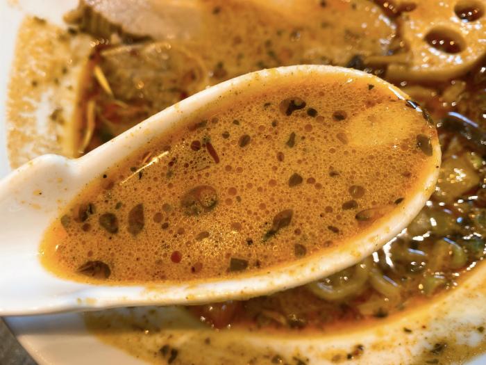 スパイスラーメン 点と線. 狸小路店 スープ
