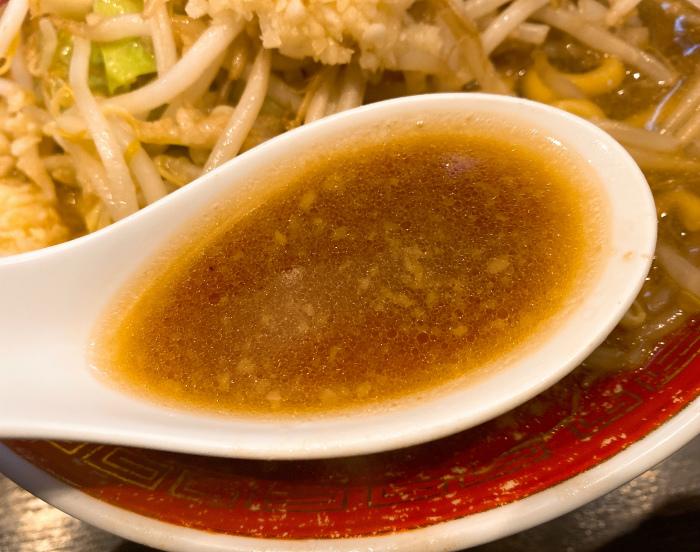 らーめん てら 極太にんにく醤油 スープ