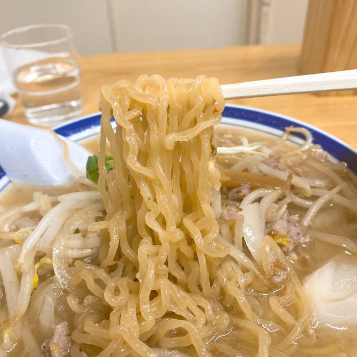 味の三平 味噌ラーメン 麺
