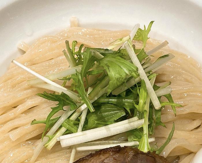 限定:辛味噌の煮干しつけ麺 水菜