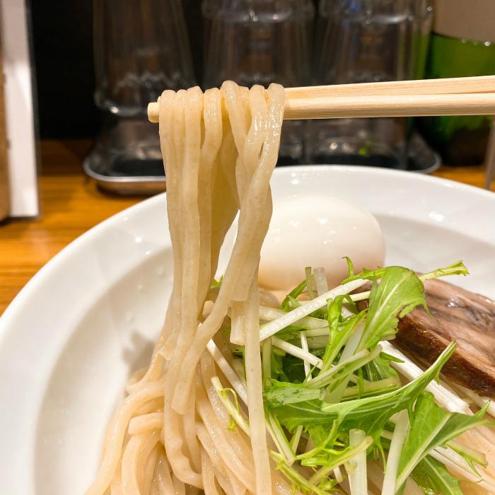 限定:辛味噌の煮干しつけ麺 麺