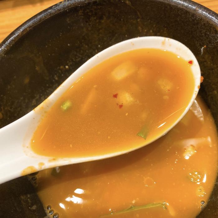 限定:辛味噌の煮干しつけ麺 割りスープ