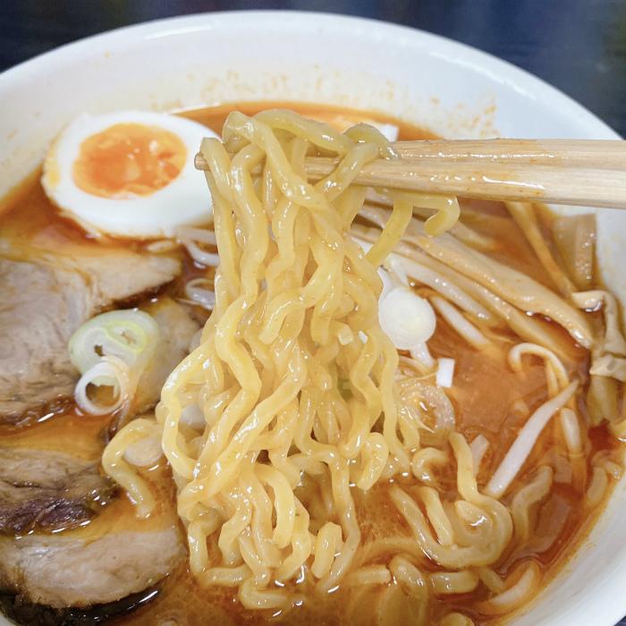 辛いラーメン14  札幌南口店 辛味噌 麺