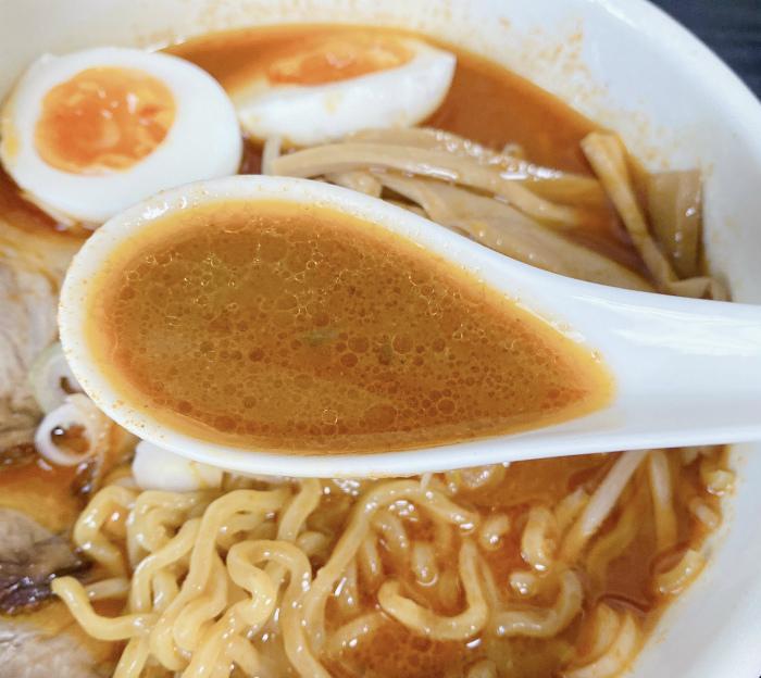 辛いラーメン14  札幌南口店 辛味噌 スープ