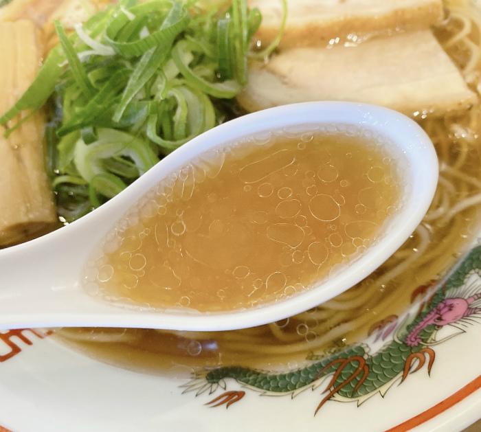 らーめん木蓮@西野 焼あご出汁の中華そば醤油 スープ