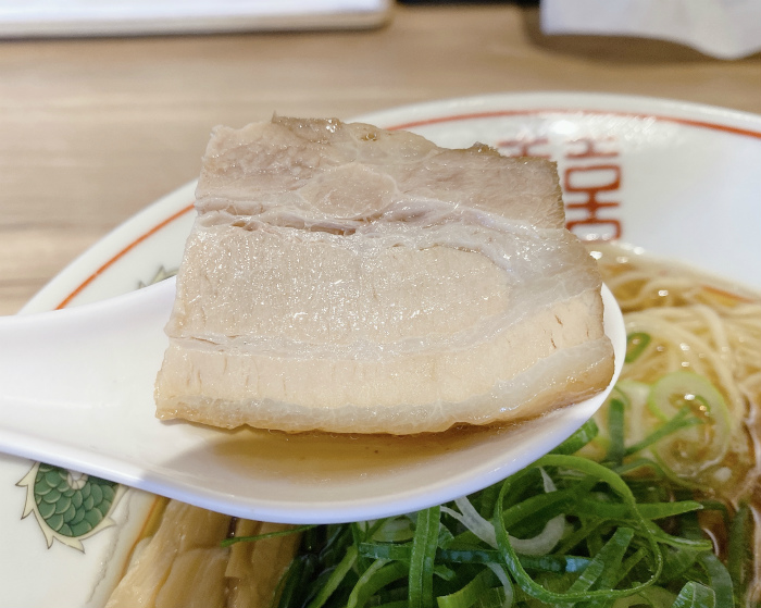 焼あご出汁の中華そば醤油 チャーシュー