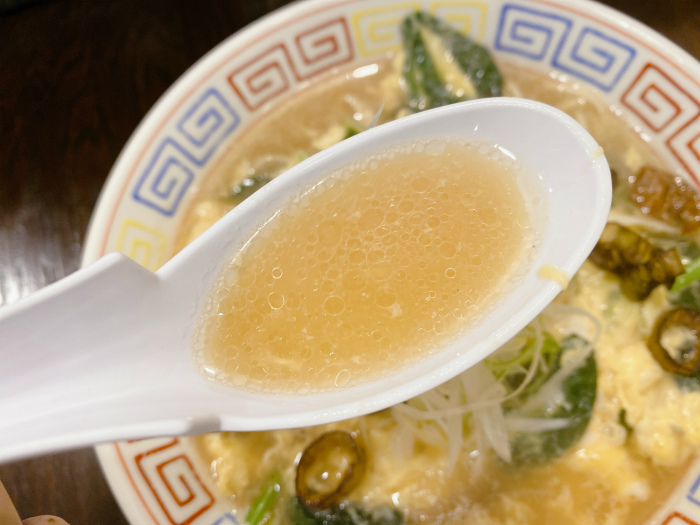 いせのじょう 卵とじラーメン スープ