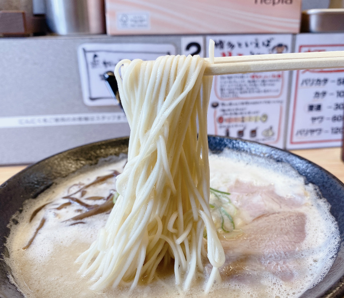 博多豚骨ラーメン 一純舎@琴似 ラーメン 麺