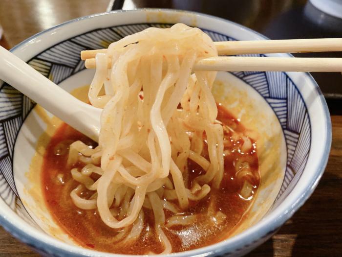 カラ鶏煮干しつけ麺 麺