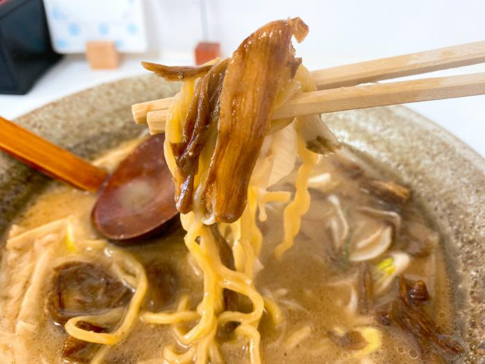 麺や 春夏揫冬-ShiKi-でごぼうらーめん 味噌 素揚げごぼう